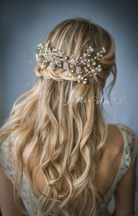 30 Chic Vintage Wedding Hairstyles And Bridal Hair Accessories Intended For Elegant Vintage Wedding Hair Piece Dt3