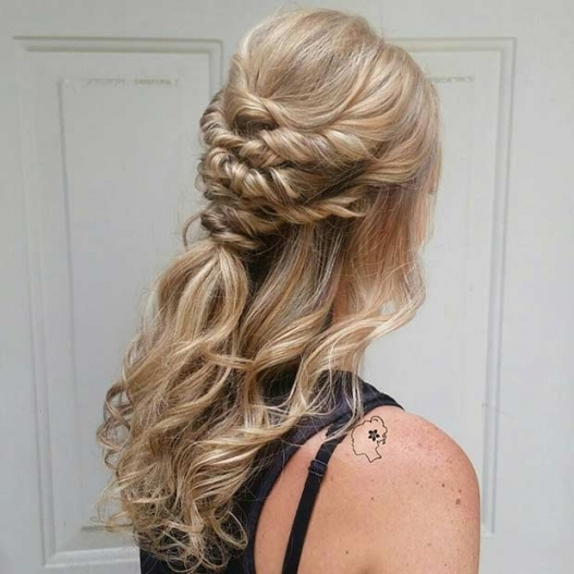31 Half Up, Half Down Hairstyles For Bridesmaids | Stayglam intended for Awesome Half Updos For Long Hair Wedding kc3