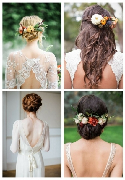 35 Beautiful Fall Wedding Hairstyles | Happywedd Pertaining To Inspirational Wedding Hair Pics Fg8