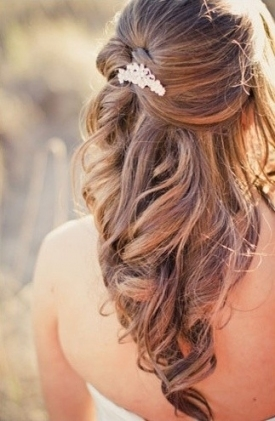 35 Wedding Hairstyles: Discover Next Year's Top Trends For Brides In Awesome Half Updos For Long Hair Wedding Kc3