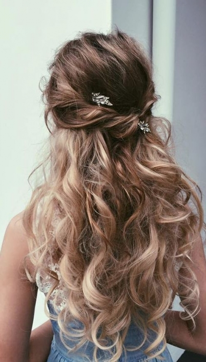 35 Wedding Updo Hairstyles For Long Hair From Ulyana Aster | Wedding Inside Half Updos For Long Hair Wedding