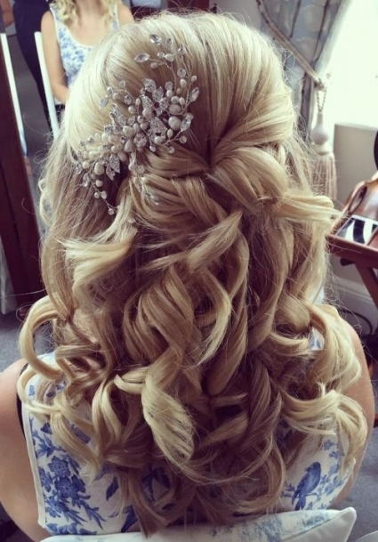 37 Half Up Half Down Wedding Hairstyles Anyone Would Love With Regard To Half Updos For Long Hair Wedding