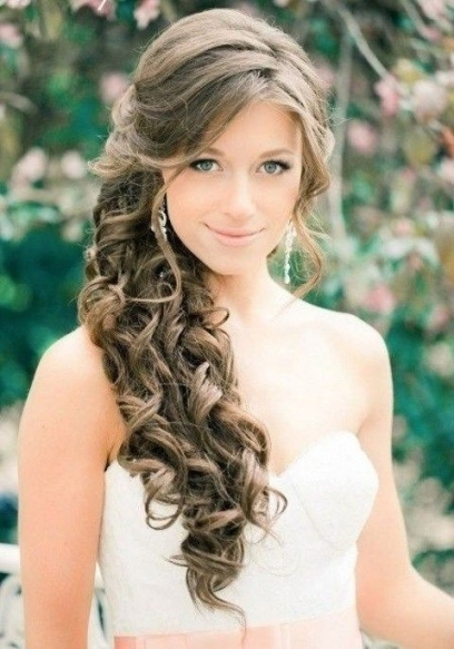Awesome Wedding Hairstyles To The Side For Long Hair fg8