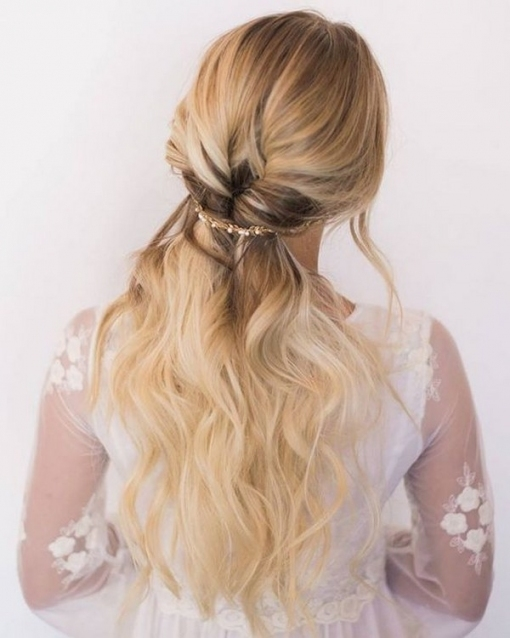 40 Stunning Half Up Half Down Wedding Hairstyles With Tutorial Regarding Awesome Half Updos For Long Hair Wedding Kc3