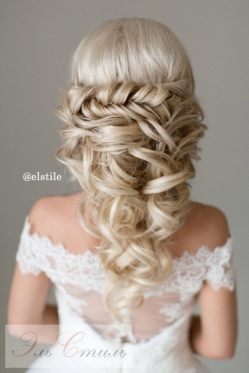 40 Stunning Half Up Half Down Wedding Hairstyles With Tutorial Throughout Awesome Half Updos For Long Hair Wedding Kc3