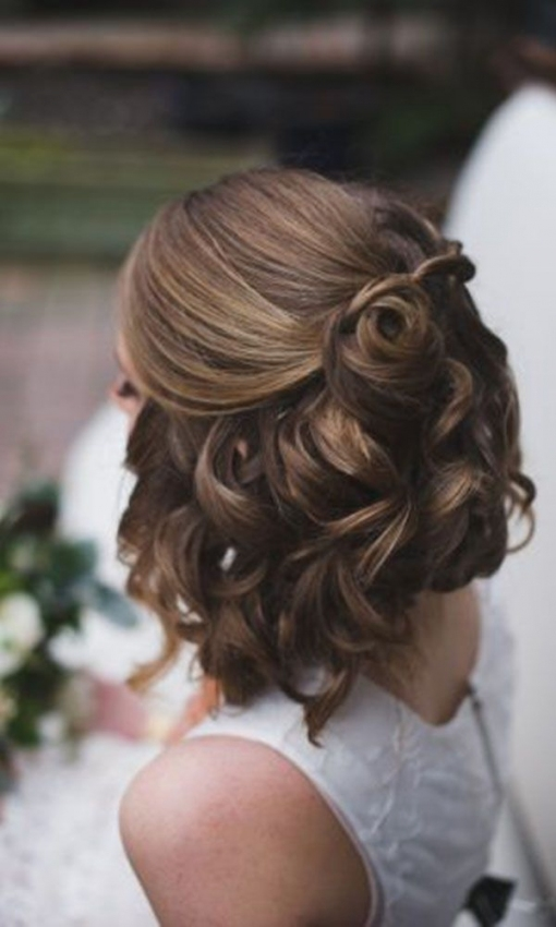 Lovely Short Hair Styles For Wedding kc3