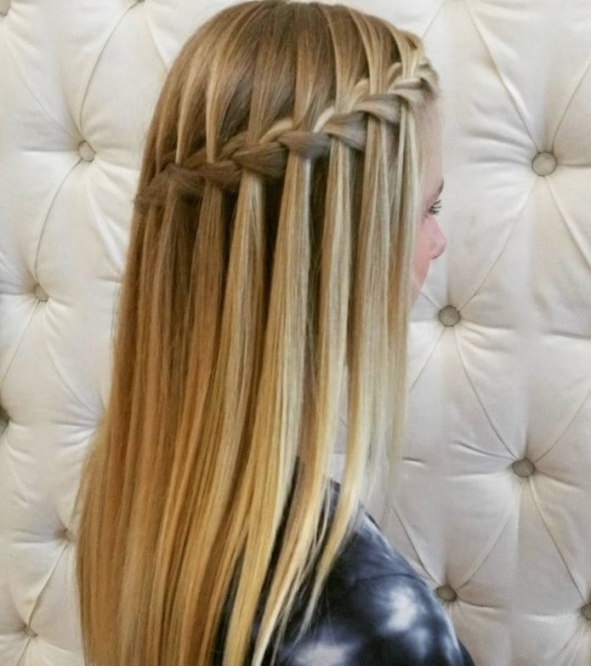 6 Gorgeous Bridesmaid Hairstyles You'll Fall In Love With   All With Waterfall Braid Wedding Hair