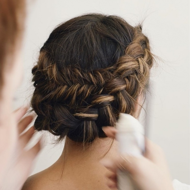 61 Braided Wedding Hairstyles | Brides In Lovely Waterfall Braid Wedding Hair Fg8