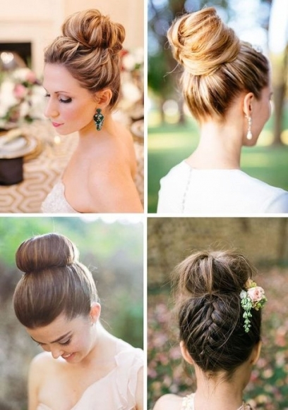 65 Elegant Bridal Top Knot Hairstyles | Happywedd With Regard To Elegant Wedding Hair