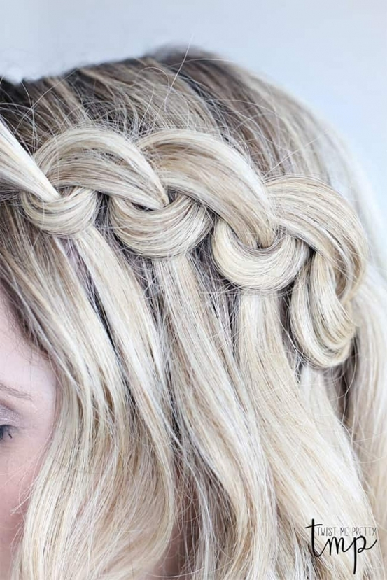 7 Waterfall Braid Tutorials For Perfect Summer Hair | Hello Glow Pertaining To Lovely Waterfall Braid Wedding Hair Fg8