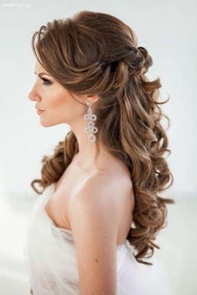 72 Best Wedding Hairstyles For Long Hair 2018 | Wedding Forward Pertaining To Hair Style For Weddings