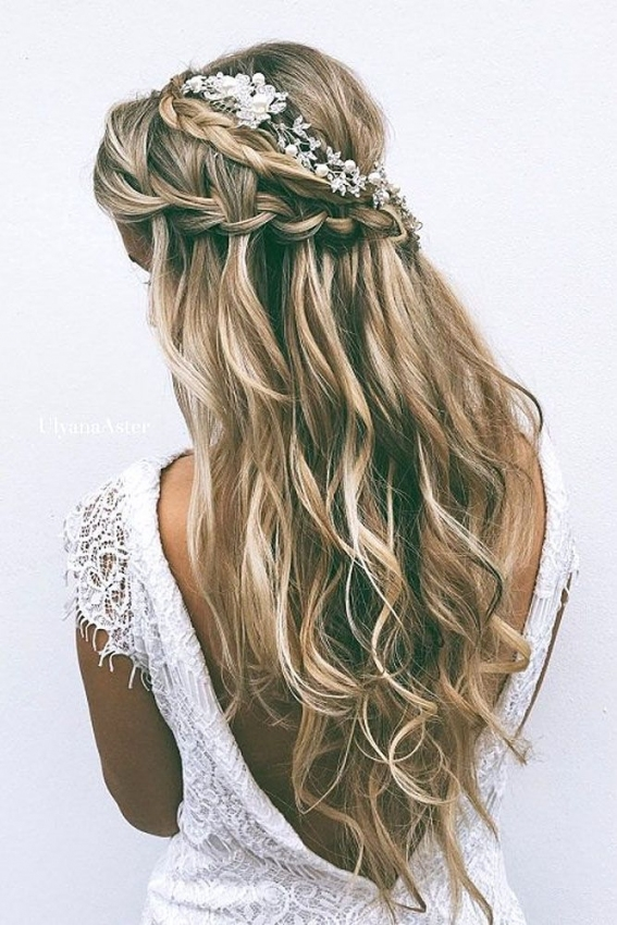 72 Best Wedding Hairstyles For Long Hair 2018 | Weddings with Waterfall Braid Wedding Hair