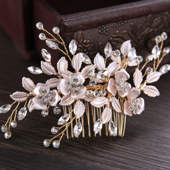 Aliexpress : Buy New Arrival Gold/silver/rose Gold Leaf Bridal Throughout New Wedding Hair Clips And Combs Ty4