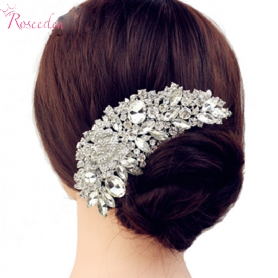 Aliexpress : Buy New Luxury Bridal Wedding Flower Crystal Throughout Wedding Hair Clips And Combs