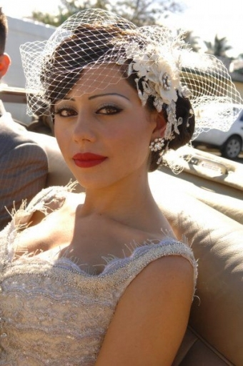Another Cool Wedding Hair Idea With A Funky Head Piece For You with regard to Vintage Wedding Hair Piece
