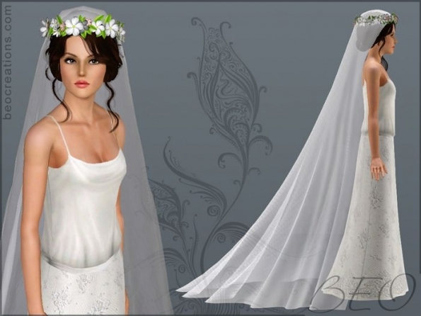 Beo Creations: Romantic Veil For Wedding | Sims 3 | Pinterest | Sims In Sims 3 Wedding Hair