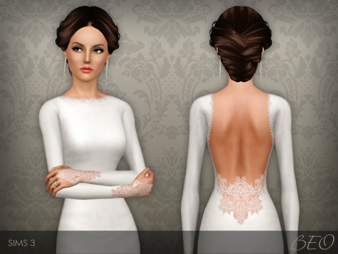 Beo's Wedding Dress 35 For New Sims 3 Wedding Hair Klp8