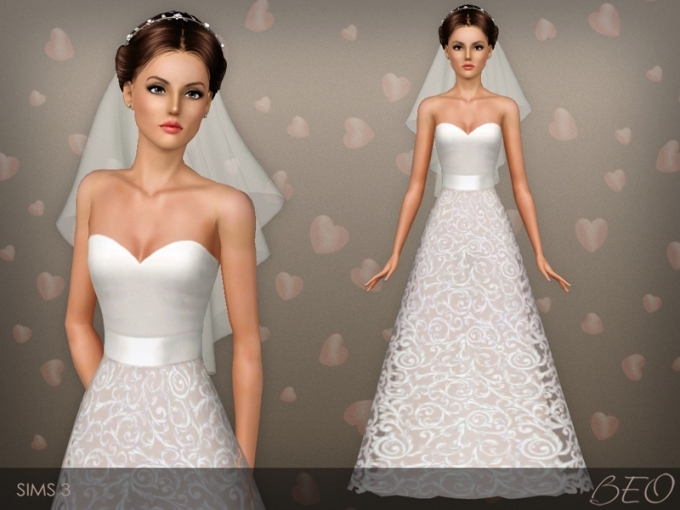 Beo's Wedding Dress 36 Pertaining To New Sims 3 Wedding Hair Klp8