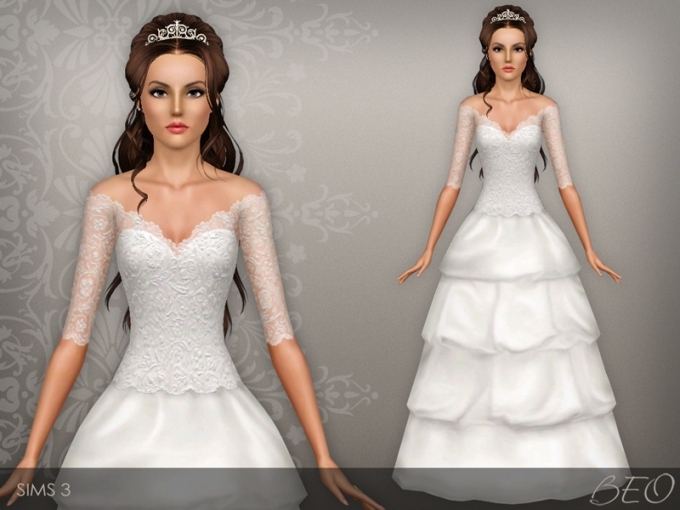 Beo's Wedding Dress 37 Pertaining To Sims 3 Wedding Hair