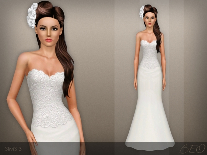 Beo's Wedding Dress 42 Pertaining To New Sims 3 Wedding Hair Klp8