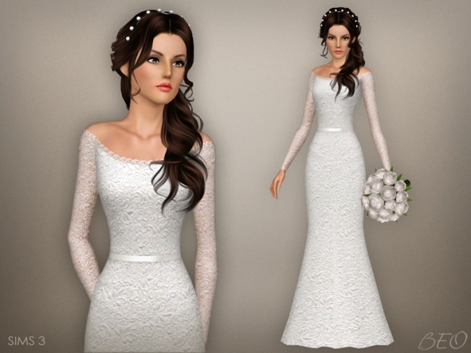 Beo's Wedding Dress 47 With Regard To Sims 3 Wedding Hair