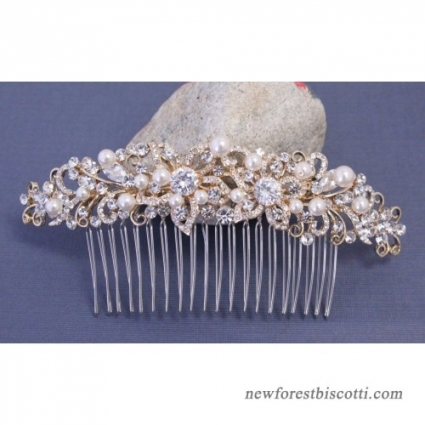 Bohemian Wedding Hair Accessories Gold Hair Comb Pearl Hair Barrette Within Wedding Hair Clips And Combs