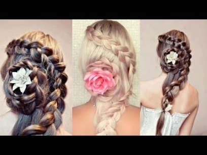 Braided Hairstyle For Long Hair. Wedding, Prom Half Updo Tutorial Within Half Updos For Long Hair Wedding
