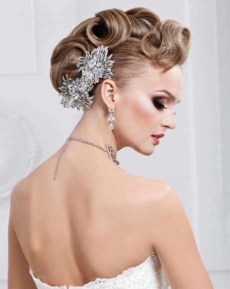 Braided Wedding Hairstyle With Wavy Side Bangs #hot #sexy For New Sexy Wedding Hair Klp8
