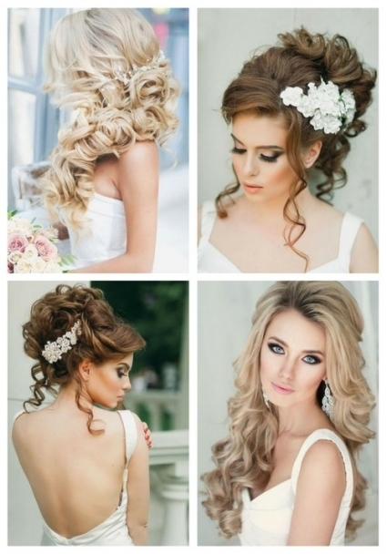 Breathtaking Wedding Hairstyles With Curls | Happywedd With Regard To Hair Style For Weddings