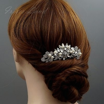 Bridal Hair Comb Pearl Crystal Headpiece Hair Clip Pin Wedding In Wedding Hair Clips And Combs