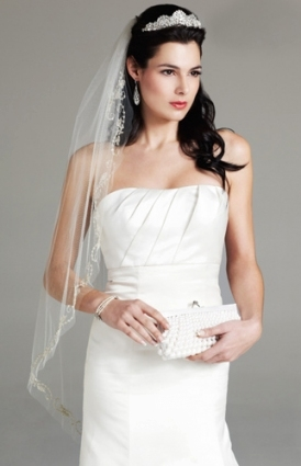 Elegant Wedding Hair Half Up With Veil sf8