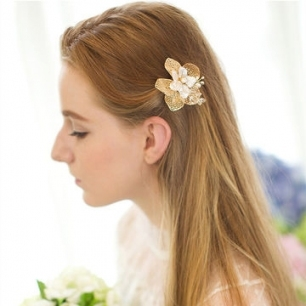 China Wedding Hair Comb Gold Leaf Hair Comb Bridal Leaves Hair Clips With New Wedding Hair Clips And Combs Ty4