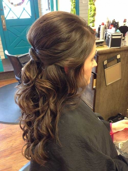 Curly Half Updos For Weddings Long Hairstyles 2017 Long Wedding Half Pertaining To Awesome Half Updos For Long Hair Wedding Kc3