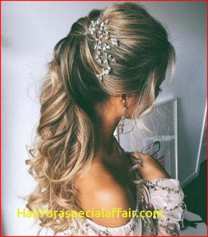 Unique Wedding Hairstyles For Long Hair Half Up klp8