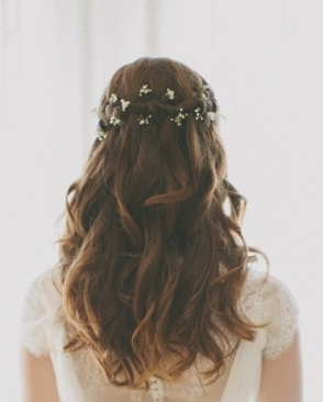 Elegant Bridal Hair, Best Wedding Hair, Brunette Hairstyle Throughout Lovely Waterfall Braid Wedding Hair Fg8