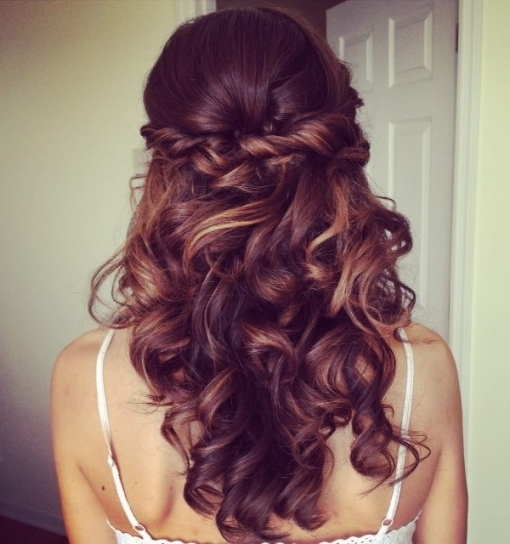 Elegant Wedding Hairstyles: Half Up Half Down | Tulle & Chantilly Within Awesome Half Updos For Long Hair Wedding Kc3
