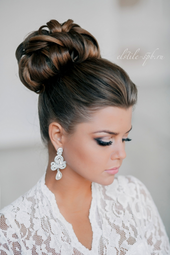 Elegant Wedding Hairstyles Part Ii: Bridal Updos | Tulle & Chantilly throughout Beautiful Elegant Wedding Hair df9