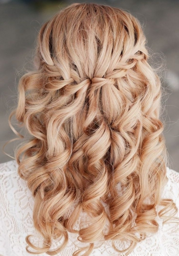 Explore Photos Of Wedding Hairstyles With Plaits (Showing 15 Of 15 With Lovely Waterfall Braid Wedding Hair Fg8