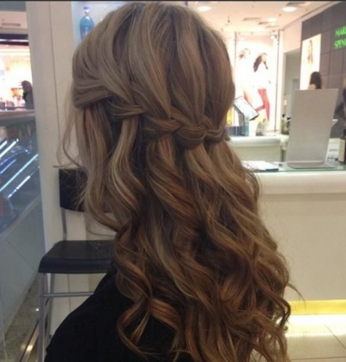 Fabulous Waterfall Braid..hairstyle For Julie's Wedding!!! <3 | Hair Intended For Waterfall Braid Wedding Hair
