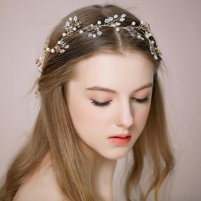 Gold Wedding Headpiece Bridal Hair Accessories Cheap 2016 New Arrive Regarding New Sexy Wedding Hair Klp8