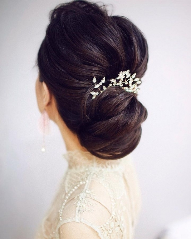 Gorgeous Wedding Hairstyles For Every Length | Updo Wedding Hairstyle Intended For Beautiful Elegant Wedding Hair Df9