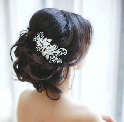 Hairstyles For Brides With Long Hair Wedding Hair Style For Long Intended For Wedding Hair Half Up With Veil
