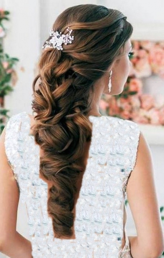 Half Up Half Down Wedding Hair   Hairstyle For Women & Man Throughout Half Updos For Long Hair Wedding