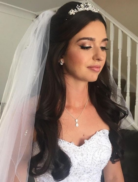 Half Up Half Down Wedding Hairstyles – 50 Stylish Ideas For Brides Pertaining To Elegant Wedding Hair Half Up With Veil Sf8