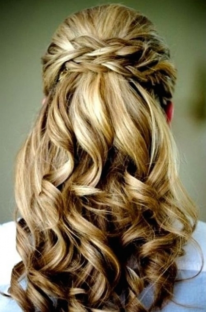 Half Up Half Down Wedding Hairstyles Half Up Half Down Wedding Half With Half Updos For Long Hair Wedding