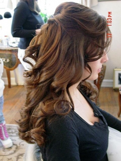 Half Updo Bridal Hair – Long Hairstyles How To Inside Awesome Half Updos For Long Hair Wedding Kc3