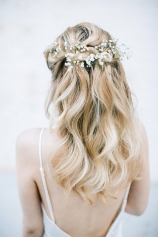 How To Create 4 Bridal Braid Hairstyles | The Wedding Community intended for Lovely Waterfall Braid Wedding Hair fg8