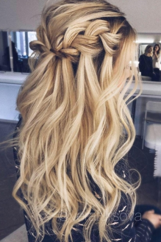 How To: Pinterest Hair | Hair Inspiration | Pinterest | Hair, Hair In Waterfall Braid Wedding Hair