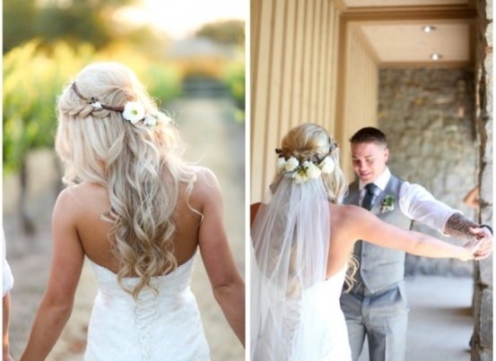 Match Your Wedding Veil With A Bridal Hairstyle   How To Choose A Regarding Elegant Wedding Hair Half Up With Veil Sf8