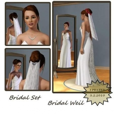 Mensure's Bridal Set French Hair Formal | The Sims 3: Bridal For New Sims 3 Wedding Hair Klp8